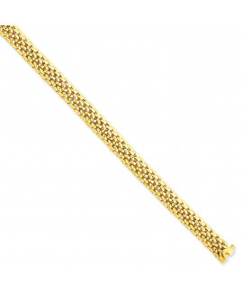 14k 7.25in 6.75mm Polished Mesh Bracelet