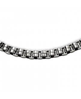 Stainless Steel Circular Links 24in Necklace