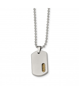 Titanium Yellow IP-plated 22in Necklace