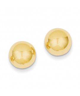 14k Polished 10mm Ball Post Earrings