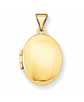 14k Plain Polished Oval Locket