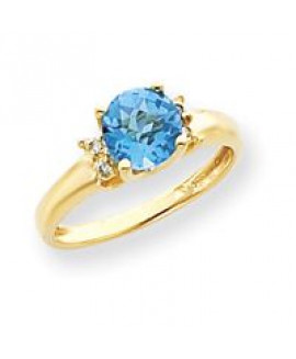 14k Diamond & Gemstone Ring Mounting