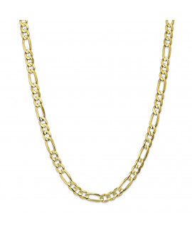 10k 6.75mm Light Concave Figaro Chain