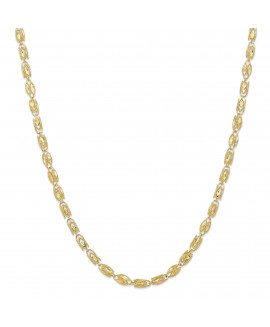 10k 4mm Marquise 24 inch Chain