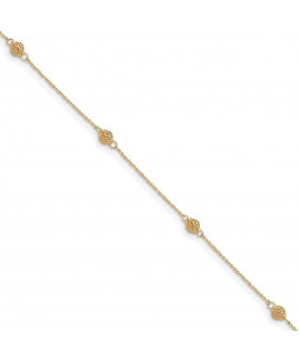 14k Bead with 1in ext Anklet