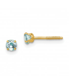 14k Madi K 3mm Aquamarine Earrings