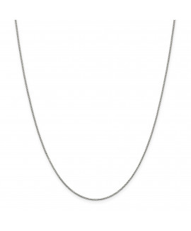 Sterling Silver .9 mm Rhodium-plated w/2in ext Box Chain