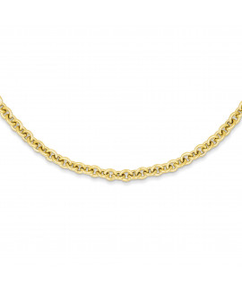 14k 18in 5mm Polished Fancy Rolo Link Necklace