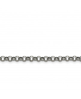 Stainless Steel 4.60mm 24in Rolo Chain