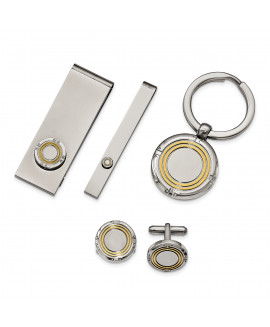 Stainless Steel Yellow IP-plating 4-piece Boxed Set