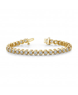 14k AAA Diamond tennis bracelet