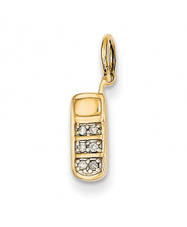14k Diamond Cell Phone Charm