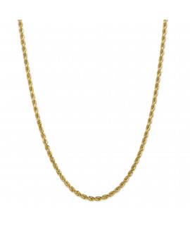14k 4mm D/C Rope with Lobster Clasp Chain