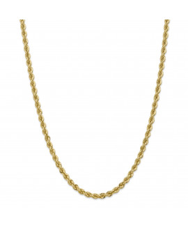 14k 5.0mm Solid Rope Chain