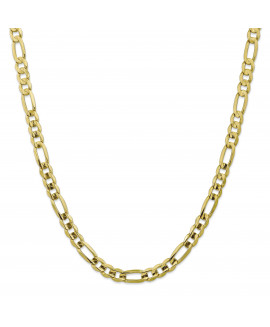 10k 7.5mm Light Concave Figaro Chain