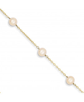 14k 9 inch FW Cultured Pearl Anklet