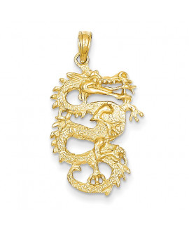 14k Solid 3-Dimensional Dragon Pendant
