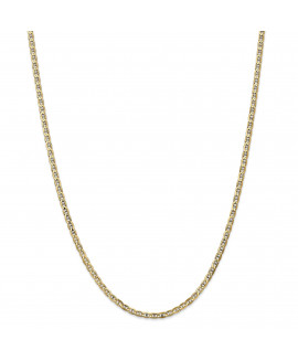 14k 3mm Concave Anchor Chain