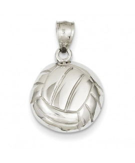 14k White Gold Volleyball Pendant