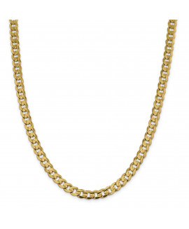 14k 7.5mm Open Concave Curb Chain