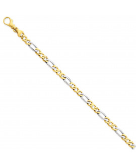 14k Two-tone 5.8mm Polished Fancy Link Chain