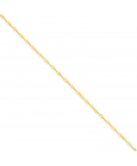 14k 1.70mm Singapore Chain Anklet