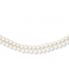 14k 5-5.5mm 2 Strand FW Cultured Pearl Necklace
