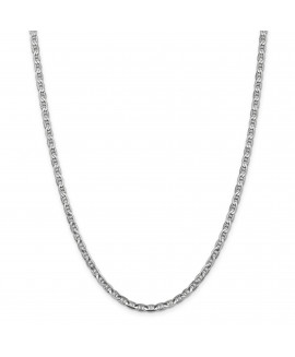 14k WG 3.75mm Concave Anchor Chain