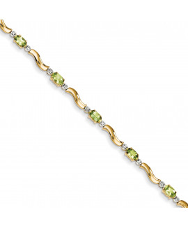 14k Completed Fancy Diamond/Peridot Bracelet