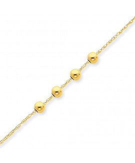 14k w/ 4, 4mm Bead Necklace
