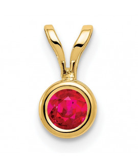 14k 4mm Ruby bezel pendant