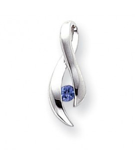 14k White Gold 3mm Tanzanite Pendant