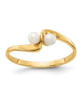 14k 3mm FW Cultured Pearl ring