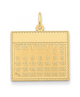 14k Friday the First Day Calendar Pendant
