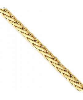 14K 4.4mm Hand-polished Flat-Edged Woven Link Chain
