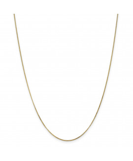 14ky .9mm Curb Pendant Chain