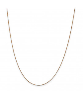 14k Rose Gold .70mm Box Link Chain