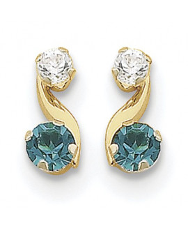 14k Madi K Synthetic Blue Topaz (Dec) Post Earrings