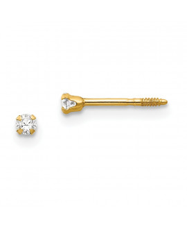 14k Madi K 2.25mm CZ Earrings