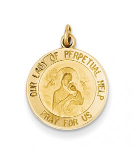 14k Our Lady of Perpetual Help Medal Charm