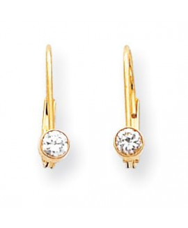 14k 3.25mm Round Leverback Earring Mountings