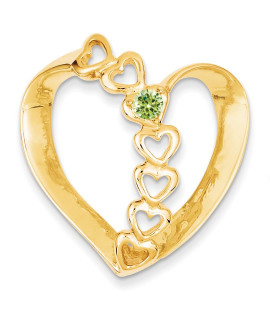 14k Family Heart Slide