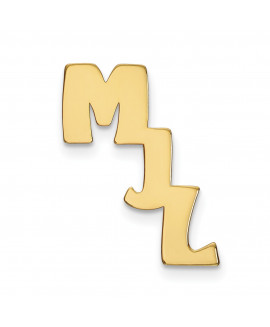 14k Initial Cutout Personalized Tie Tac