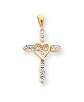 14k Cross Pendant Mounting